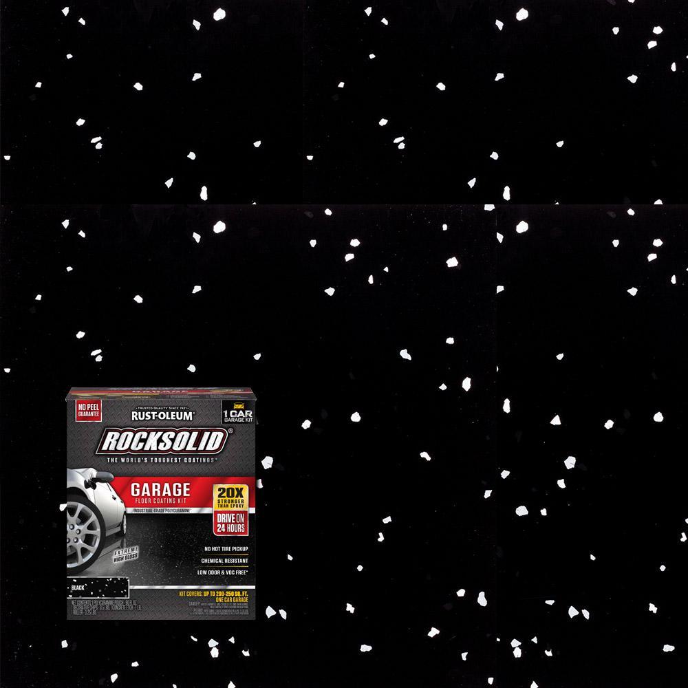 76 oz. Black Polycuramine 1 Car Garage Floor Kit (2-Pack)