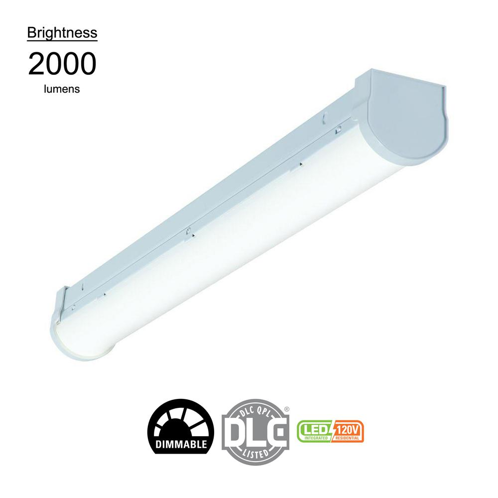 2 ft. Linear White Integrated LED Ceiling Strip Light with 2510