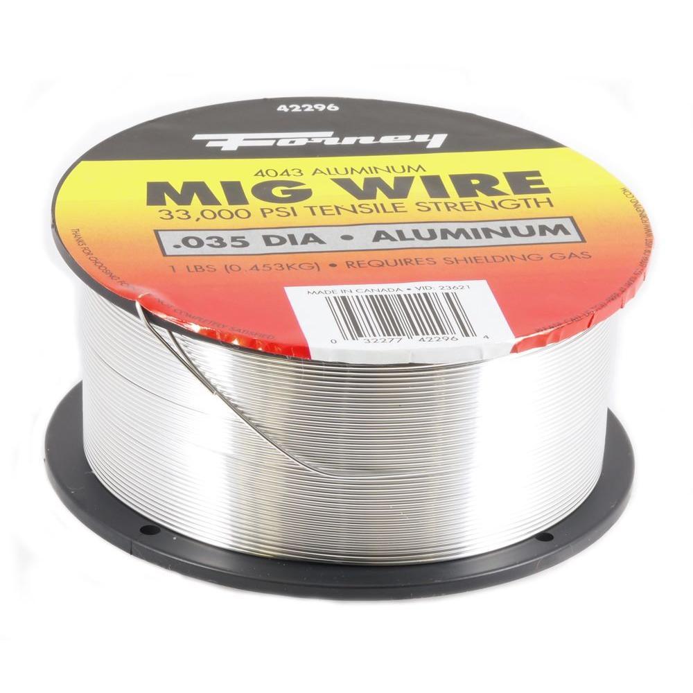 Forney 0.035 Dia 4043 Aluminum Alloy MIG Wire 1 lb. Spool-42296 ...