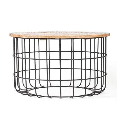 Auxon Cage Coffee Table 17.75 Inch Height