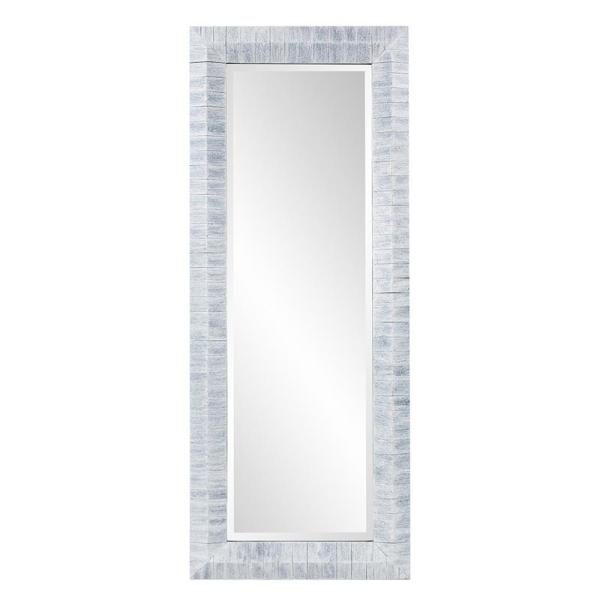 Large Rectangle Gray With White Wash Casual Mirror (60 in. H x 24 in. W)