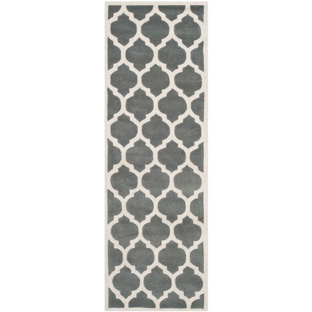 Chatham Dark Grey/Ivory 2 ft. 3 in. x 5 ft. Runner