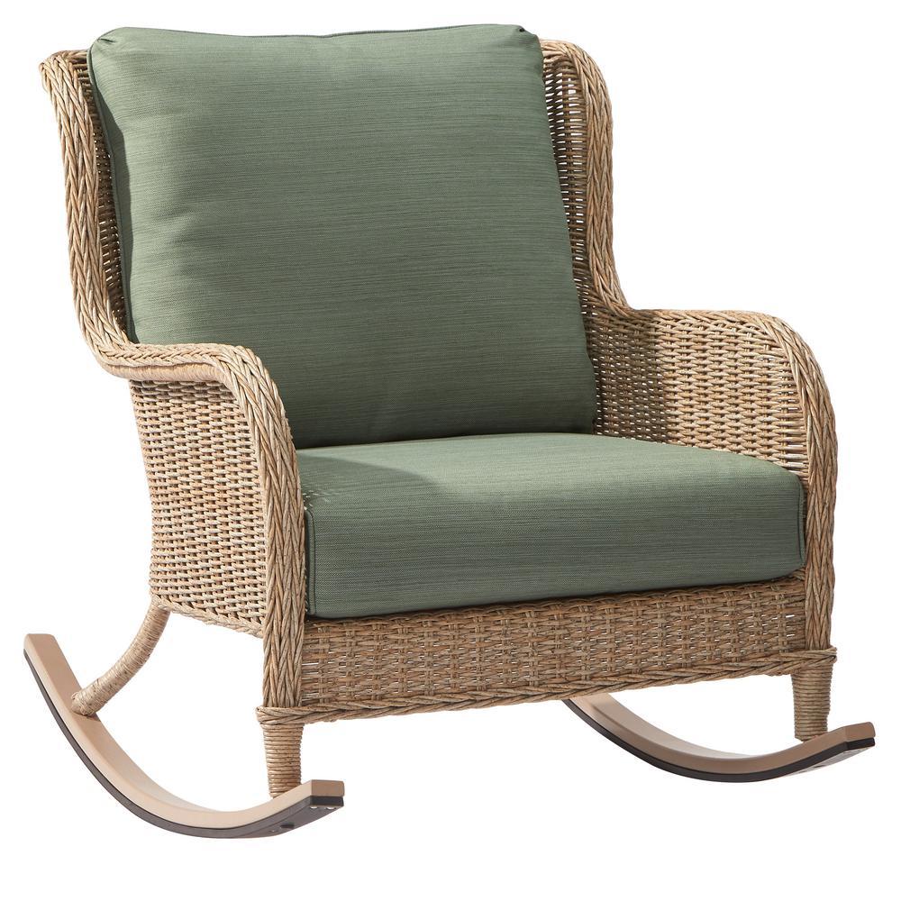 Elegant Lemon Grove Wicker Outdoor Rocking Chair ...
