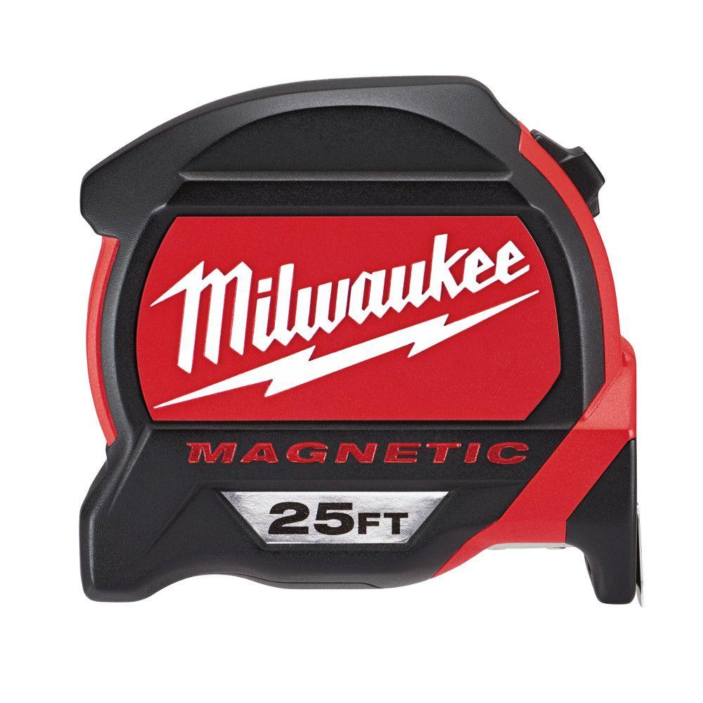 Milwaukee 25 Ft Premium Magnetic Tape Measure 48 22 7125
