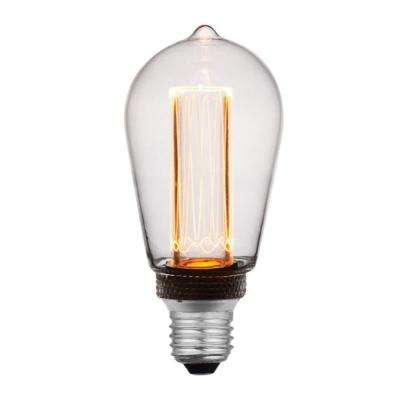 40-Watt Equivalent A19 Dimmable Indoor Clear LED Light Bulb Warm White