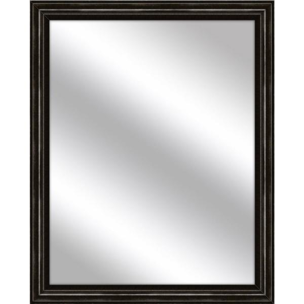 Medium Rectangle Dark Bronze Art Deco Mirror (32.75 in. H x 26.75 in. W)