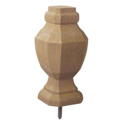 2.75 in. x 6.75 in. Pressure-Treated Wood Octagon Finial (6-Pack)