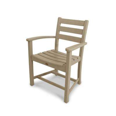 Monterey Bay Sand Castle Plastic Outdoor Patio Dining Arm Chair