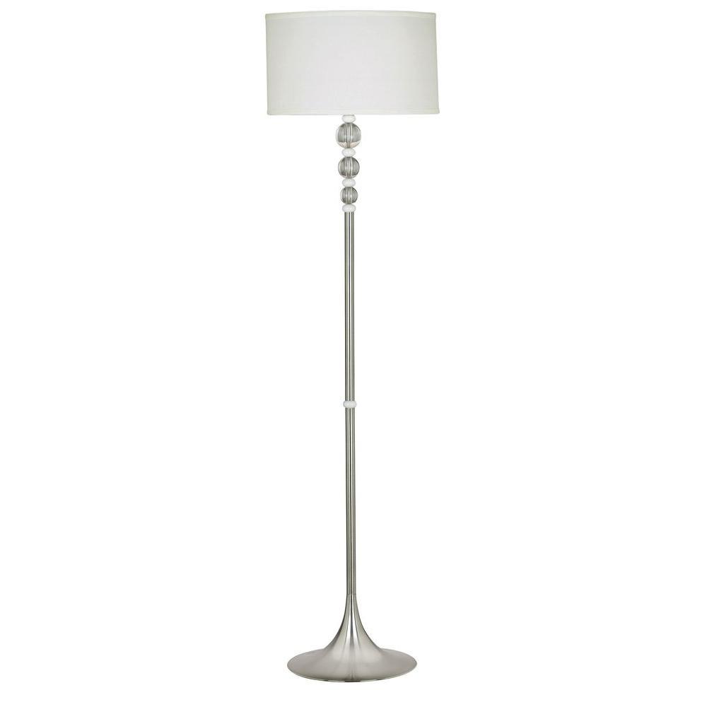 Kenroy Home Luella 58 in. Brushed Steel Floor Lamp