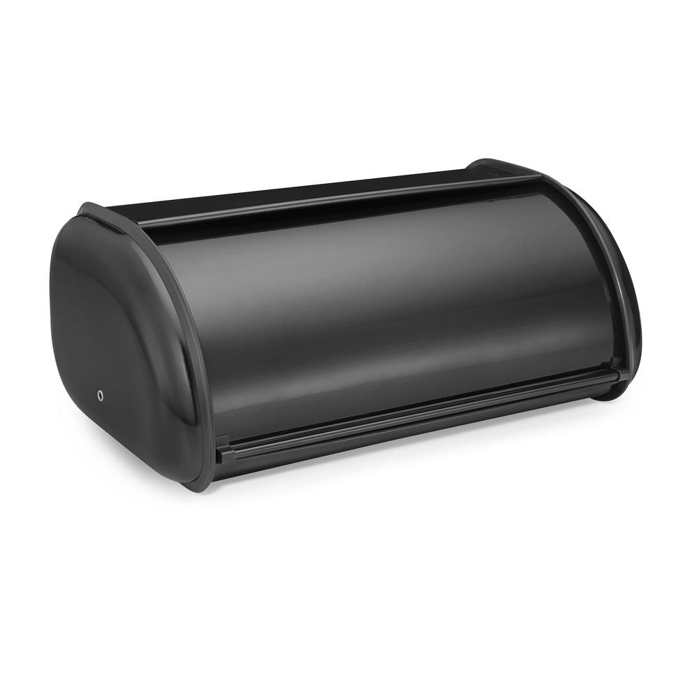 Polder Deluxe Bread Bin in Black Deluxe Bread Bin gives you extra space to store food items for your counter top. Its unique design fits nicely on the counter top without taking up space.