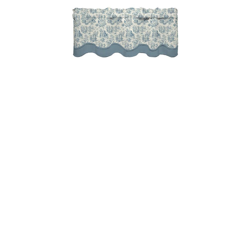 Charmed Life 52 in. W x 18 in. L Cotton Rod Pocket Window Valance in Cornflower