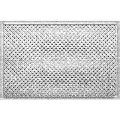Gems White 24 in x 36 in Polypropylene Door Mat
