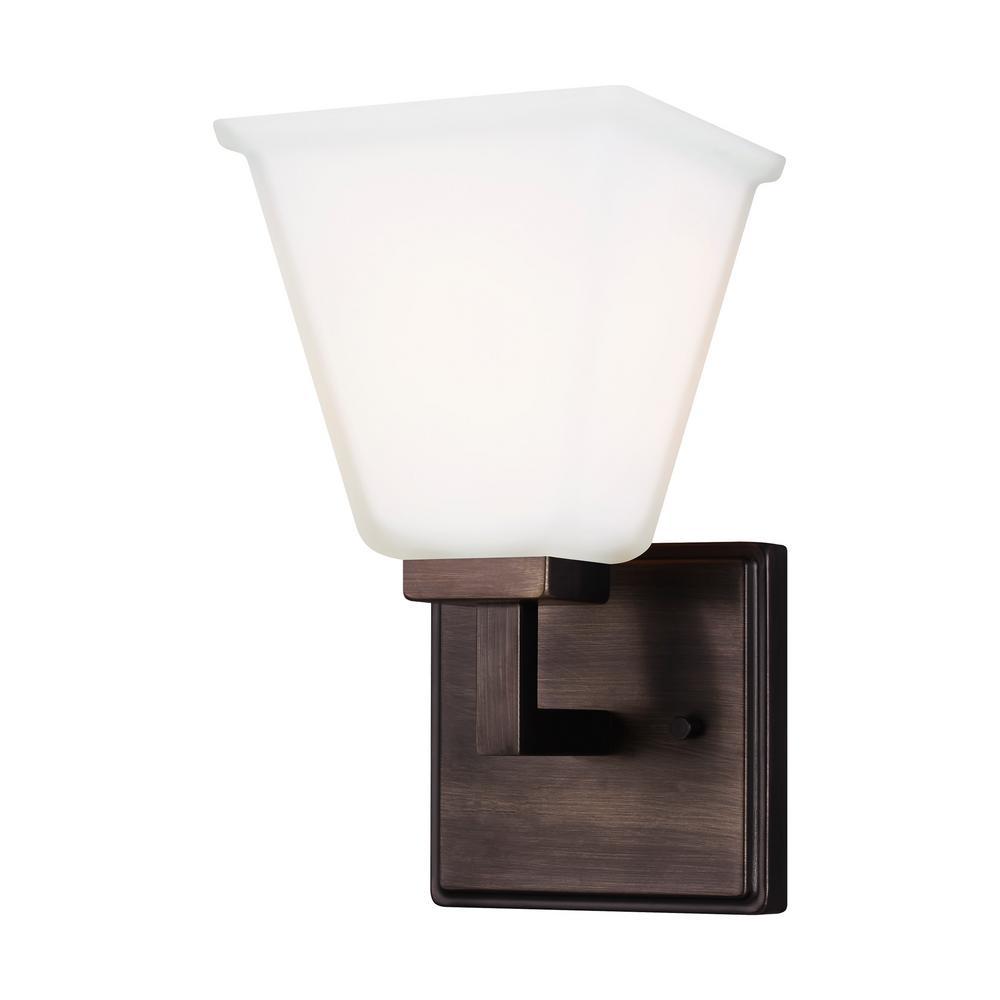 Ellis Harper 5.75 in. W 1-Light Brushed Oil Rubbed Bronze Vanity Light with LED Bulb