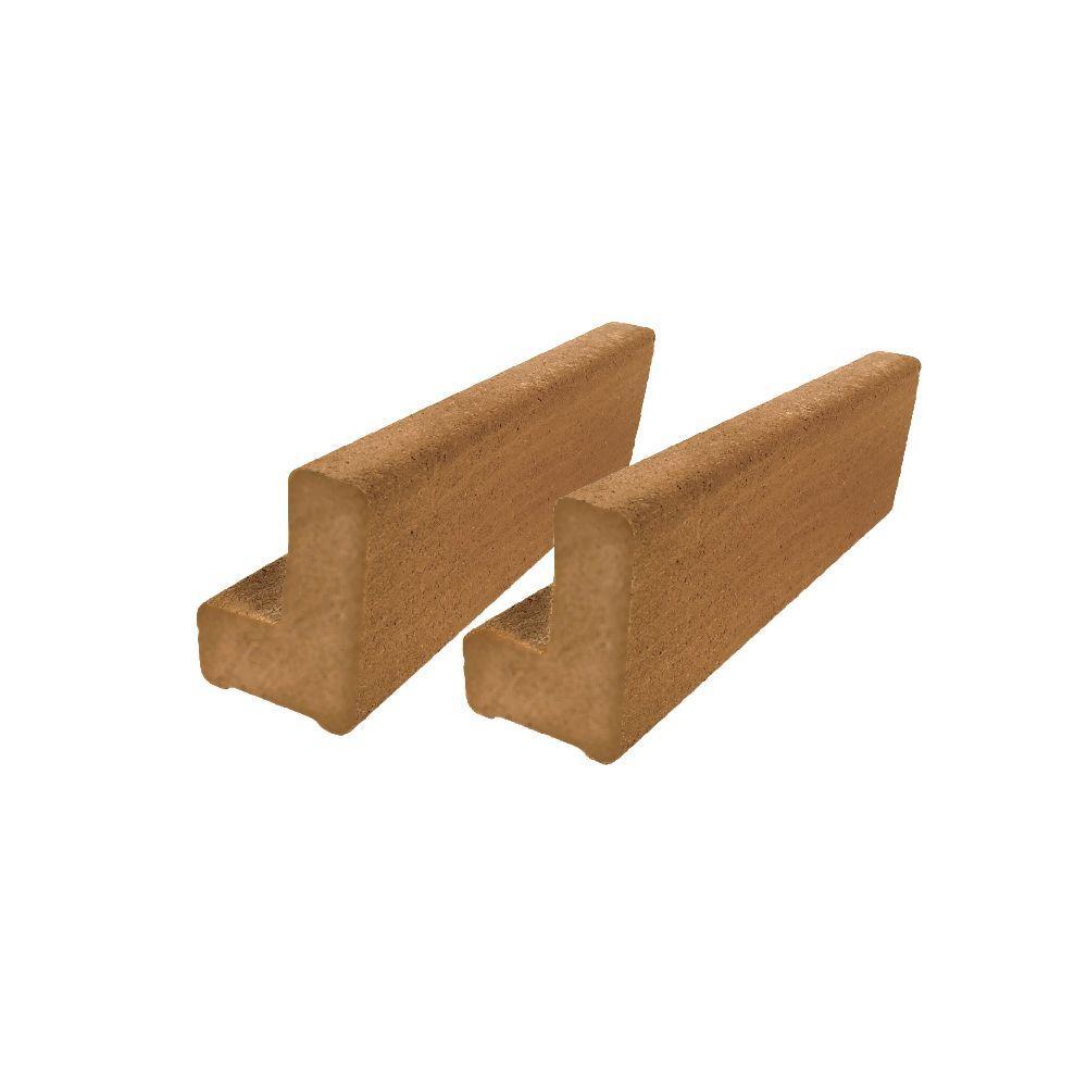 Vantage 6 ft. Rustic Cedar Solid Composite Universal Base Rail or Hand Rail (2-Pack)