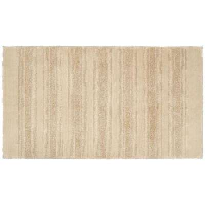 Essence Linen 30 in. x 50 in. Washable Bathroom Accent Rug