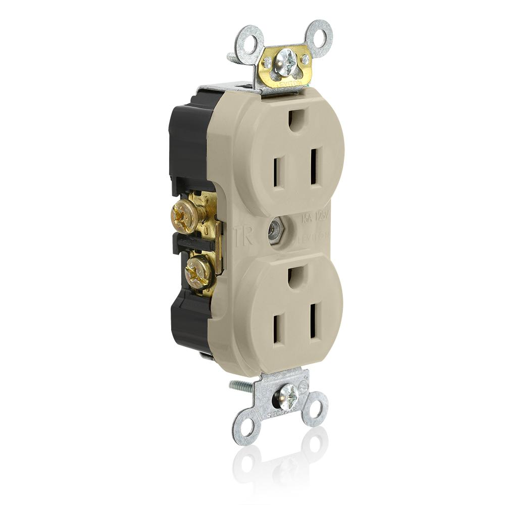 Ivory Leviton Outlets Receptacles Tcr I on Standards For Nema Receptacles