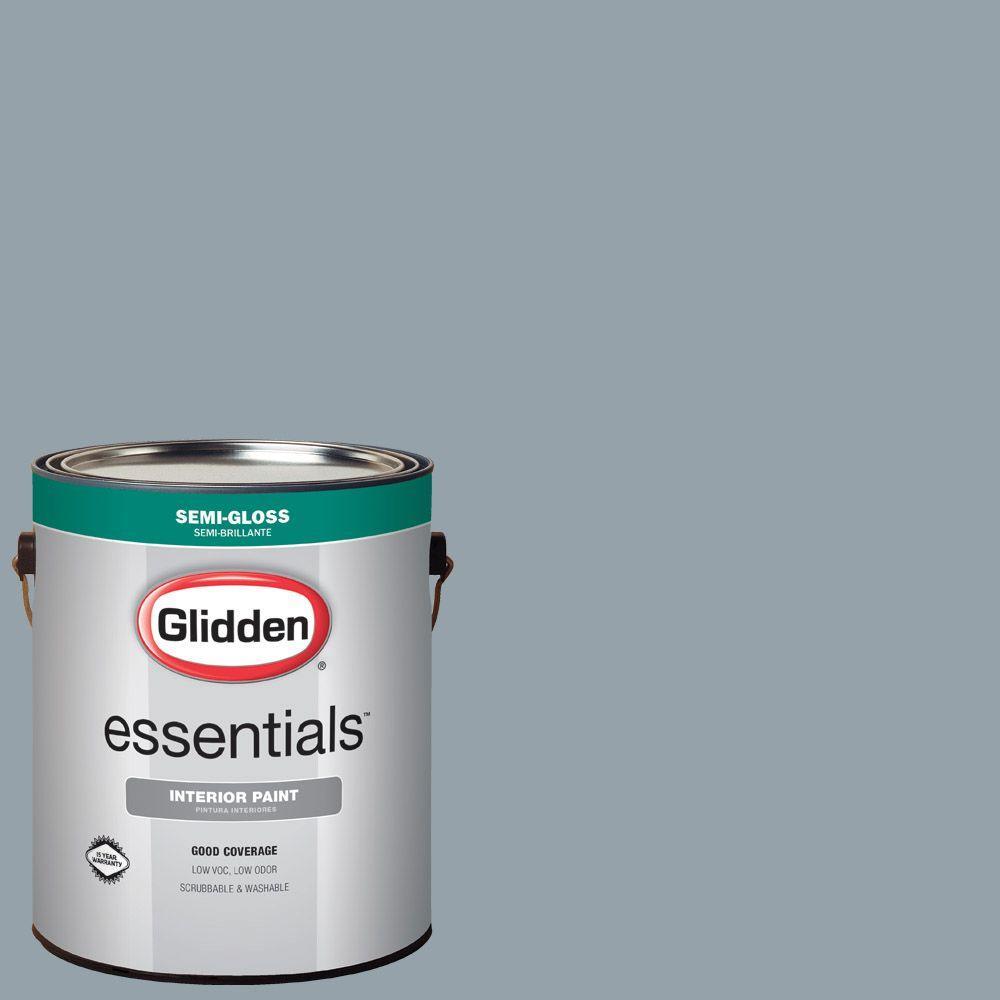 1 gal. #HDGB62D Blue Grey Shadow Semi-Gloss Interior Paint