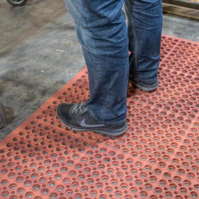 Indoor/Outdoor Durable Anti-Fatigue 36 in. x 60 in. Industrial Commercial Home Restaurant Bar Rubber Floor Mat in Red
