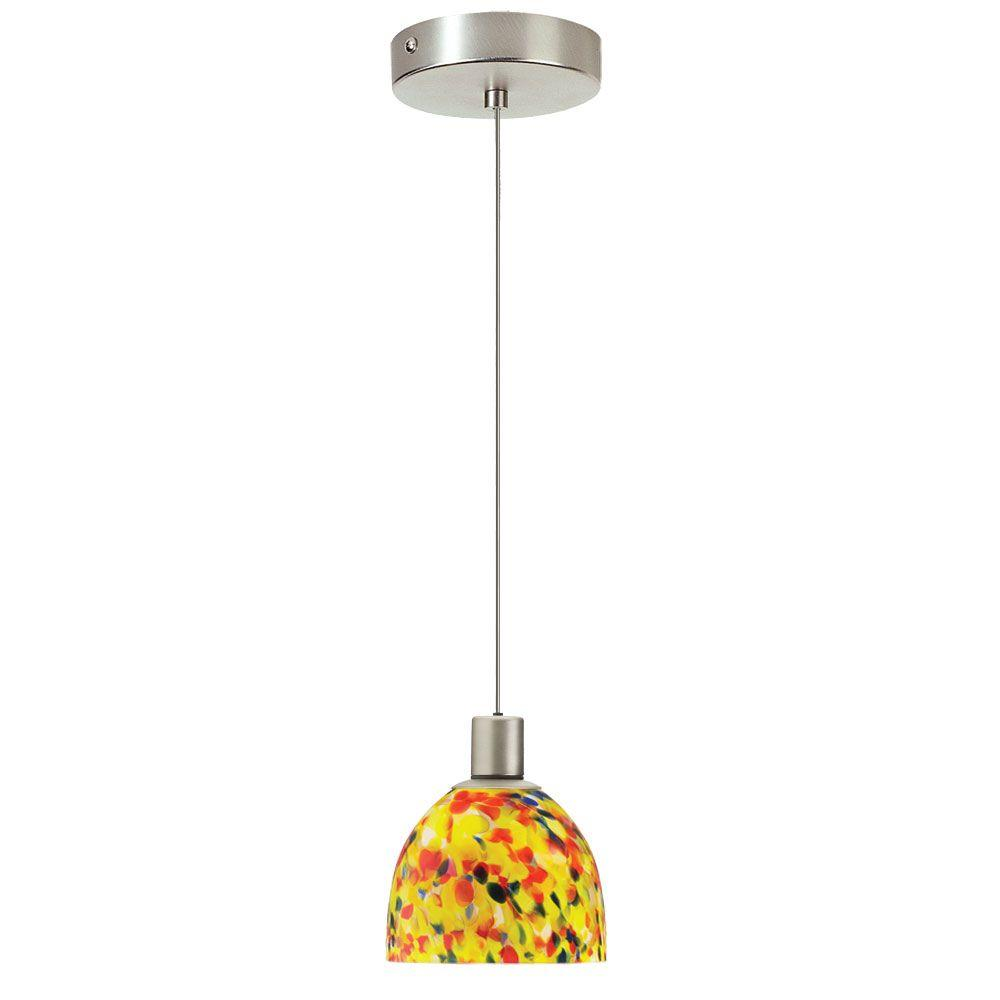 Catherine 1-Light Satin Chrome Pendant