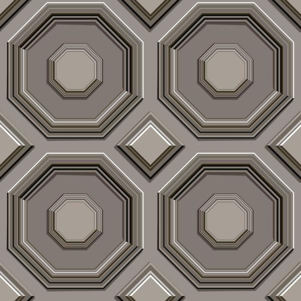 York Wallcoverings 56 sq. ft. Coffered Octagon Wallpaper DI4745