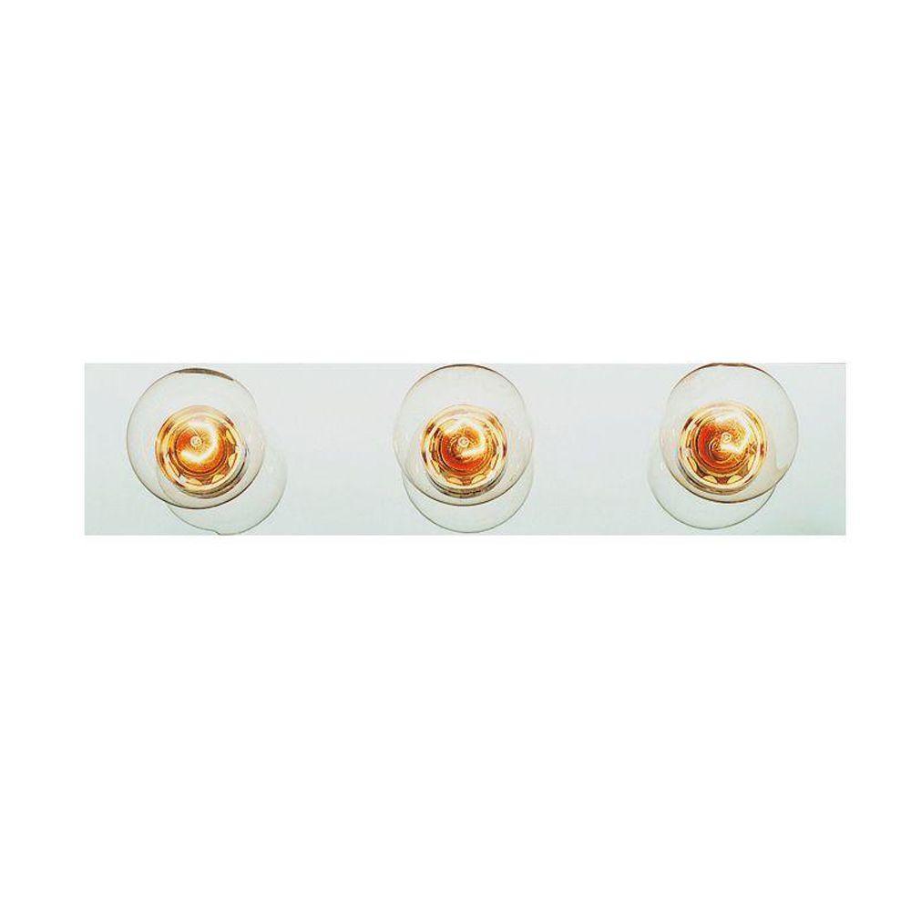 Bel Air Lighting Cabernet Collection 3-Light White Bath Bar Light