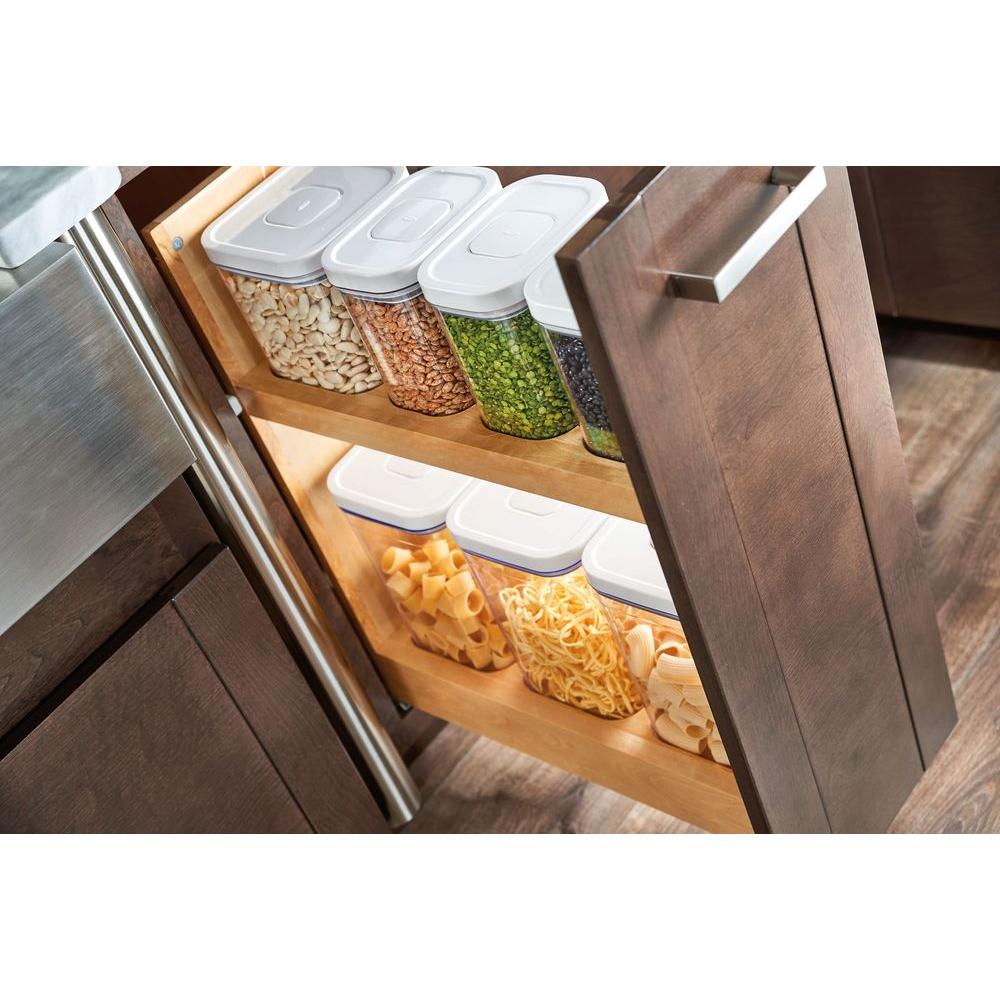 Rev A Shelf 25.5 In. H X 8.5 In. W X 21.56 In. D Pull Out Wood Base Cabinet  OXO Organizer With Soft Close Slides 448OXO BCSC 8C   The Home Depot