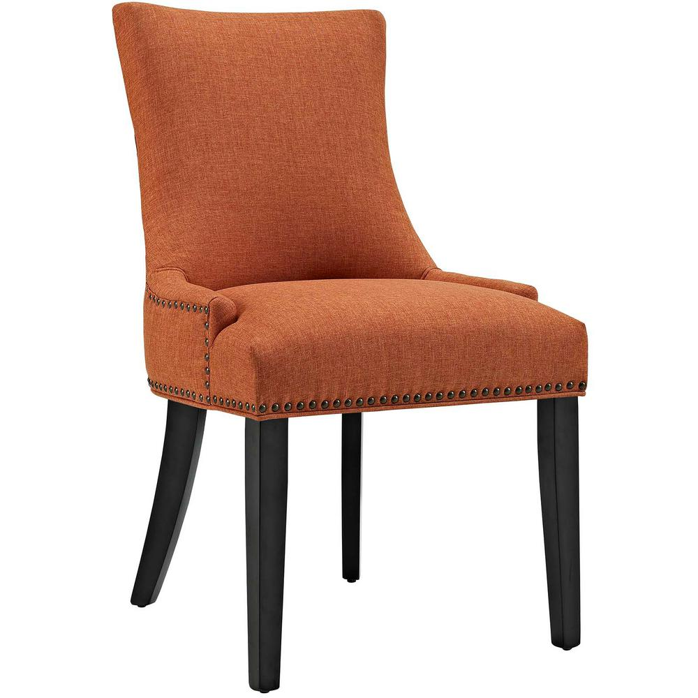 Incroyable MODWAY Marquis Orange Fabric Dining Chair