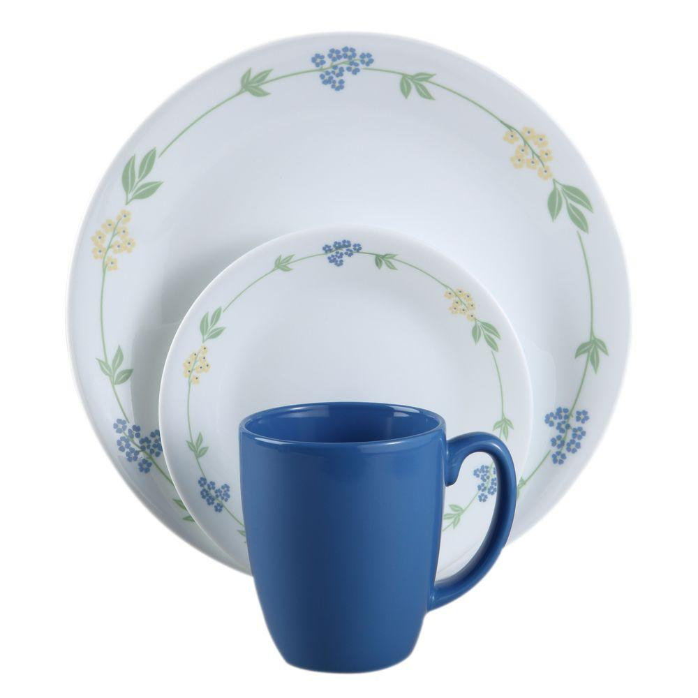 Dandelion 24 Piece Dinnerware Set, Service for 8 Every piece of Corelle glass dinnerware is break.