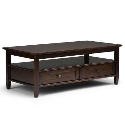 Warm Shaker Brown Storage Coffee Table