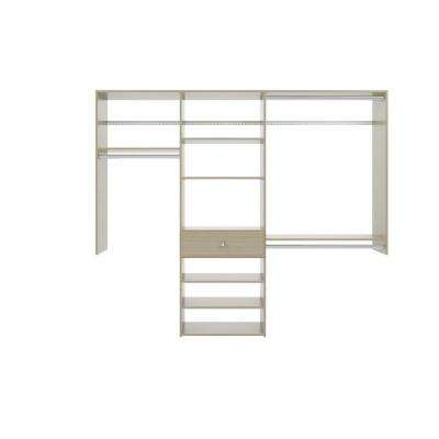 14 in. D x 84 in. W x 72 in. H Rustic Grey Perfect Fit Wood Closet Kit