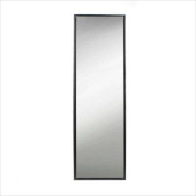Evans Rectangle Black Leaning Mirror