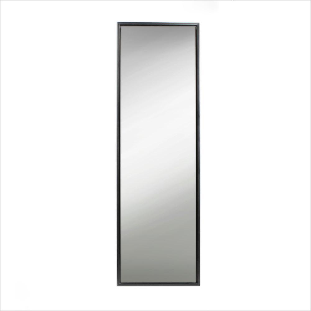 Evans Rectangle Black Leaning Mirror
