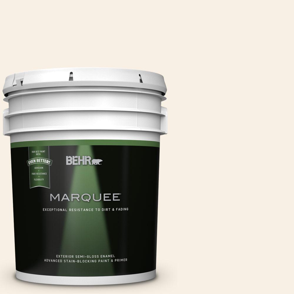 Behr Marquee 5 Gal W D 710 Creamy White Semi Gloss Enamel