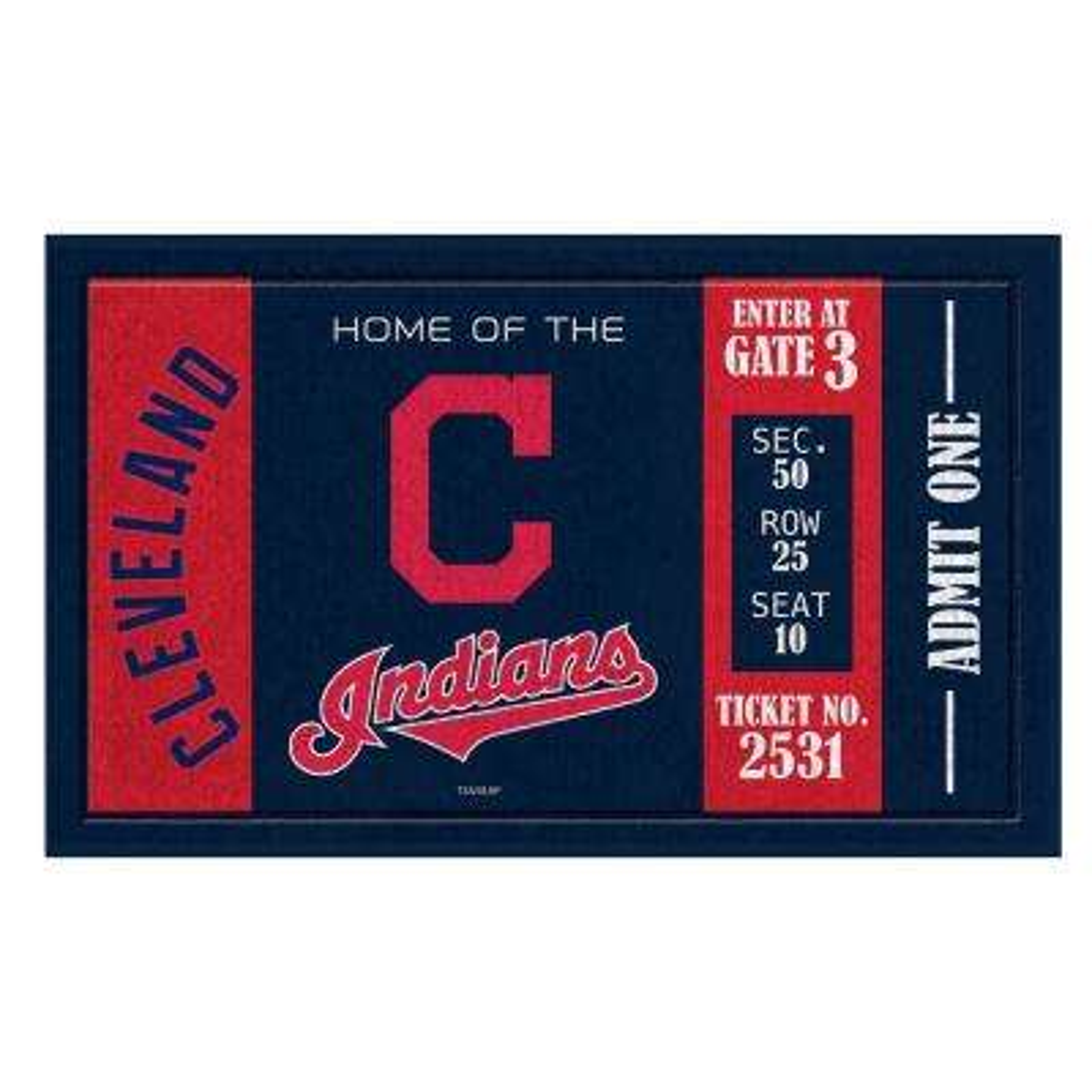 Cleveland Indians 30 in. x 18 in. Vinyl Indoor/Outdoor Turf Floor Mat