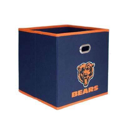 Chicago Bears NFL Store-Its 10-1/2 in. x 10-1/2 in. Navy Blue Fabric Drawer