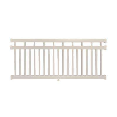 Hallandale 3.5 ft. H x 8 ft. W Vinyl Tan Railing Kit