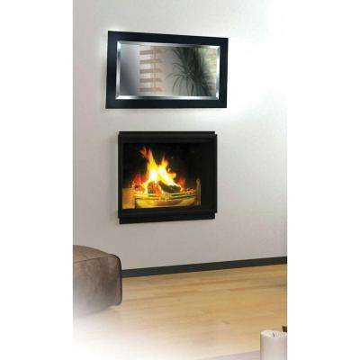 Black Ice 40 in. x 24 in. Wood Framed Mirror