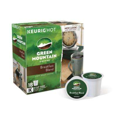 Kcup Pack Green Mountain Breakfast Blend Coffee 108 Count
