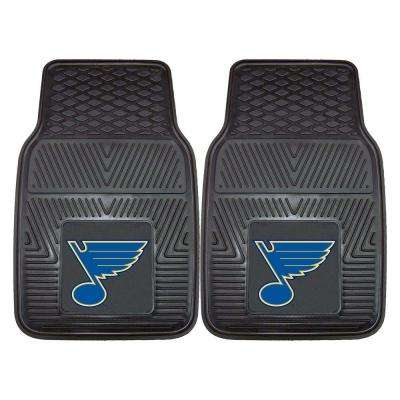 St. Louis Blues 18 in. x 27 in. 2-Piece Heavy Duty Vinyl Car Mat