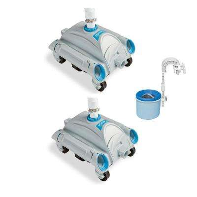 Automatic Above-Ground Pool Vacuum (2 Pack) w/ Automatic Skimmer