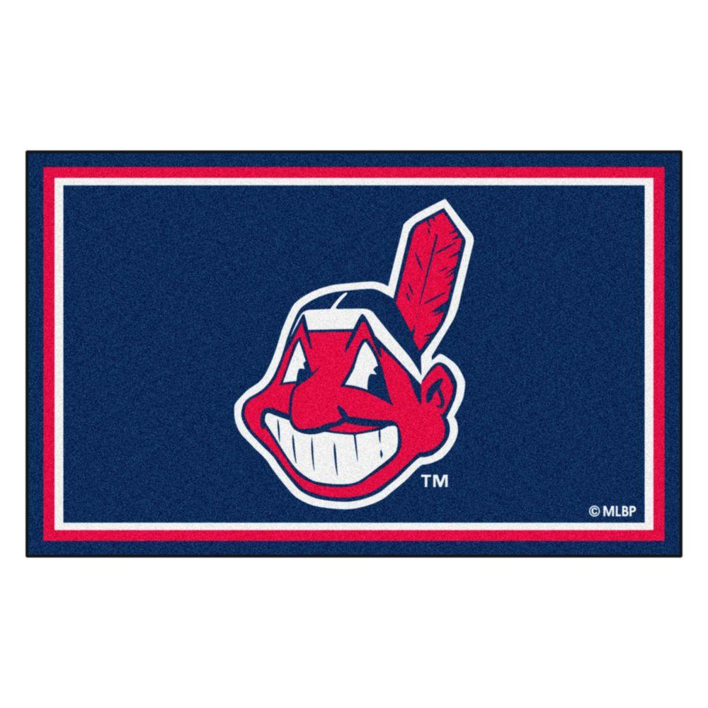 Fanmats Cleveland Indians 4 Ft X 6 Ft Area Rug 6965