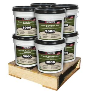 Roberts 4 Gal. Multi-Purpose Carpet and Sheet Vinyl Adhesive (8 Pail Pallet) by Roberts