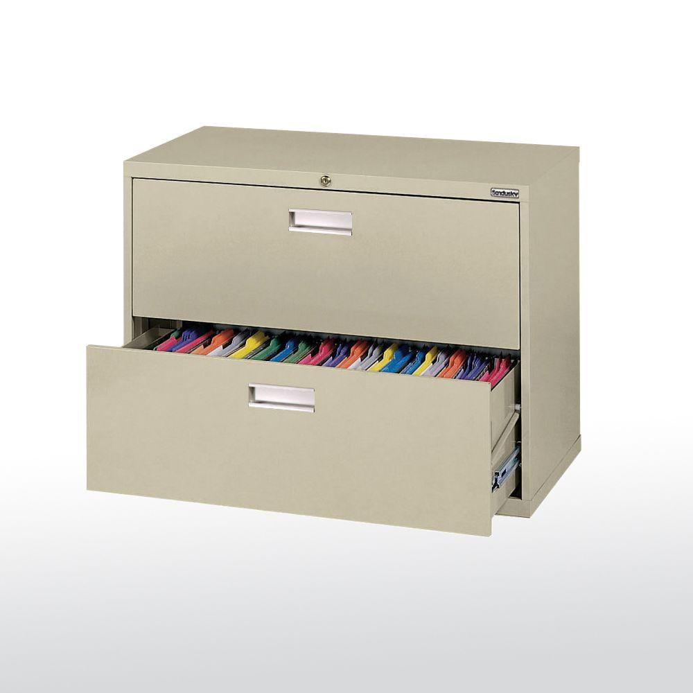 600 Series 36 in. W 2-Drawer Lateral File Cabinet in Putty