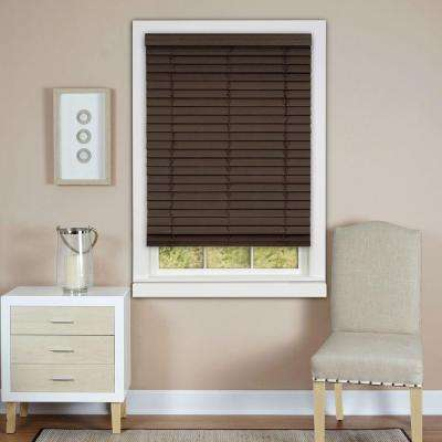 Cordless 2 in. Faux Wood Madera Falsa Plantation Blind 64 in.