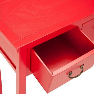 Safavieh Cindy Red Storage Console TableAMH6568F The Home Depot