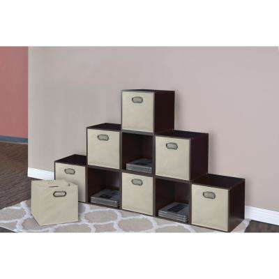 Cubo 12 in. x 12 in. Natural Foldable Fabric Bin (12-Pack)