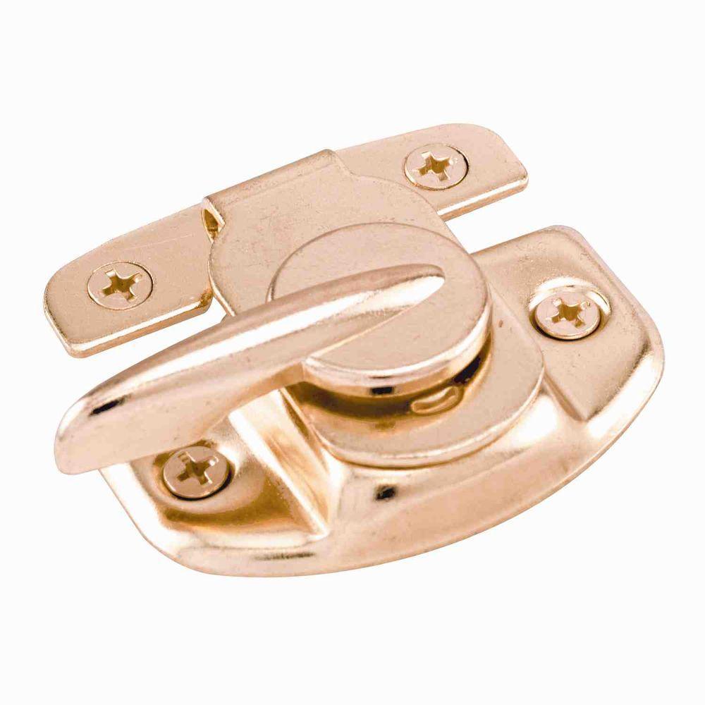 Brass-Plated Cam Action Window Sash Lock