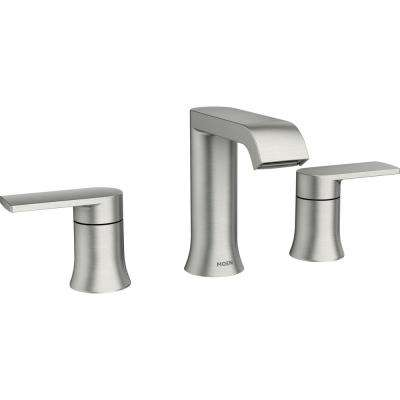 Genta 8 in. Widespread 2-Handle Bathroom Faucet in Spot Resist Brushed Nickel