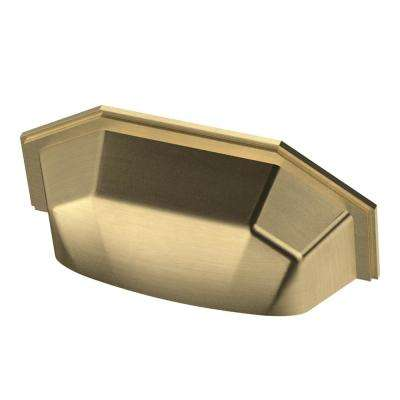 Faceted 3 in. (76mm) Champagne Bronze Cup Drawer Pull