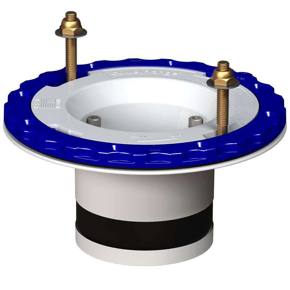 4 in. Compression Floor Protecting PVC Toilet Flange in White